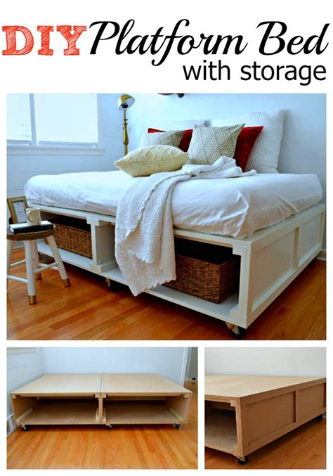 diy platform bed with storage how to build a diy platform bed with storage