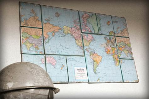 diy world map wall decor diy map wall decoist