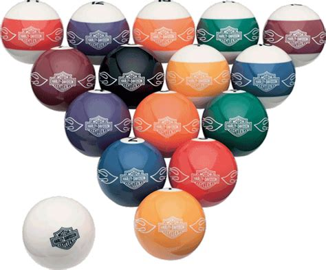 custom pool table balls harley davidson custom billiard set montreal