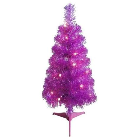 24 in pre lit pink tabletop artificial christmas tree