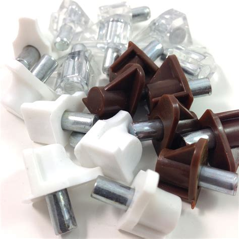 Shelf Dowel Pins by White Clear Brown Shelf Supports With 5mm Dowel