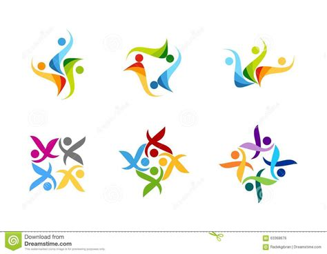 design art group team work logo education people partner symbol group