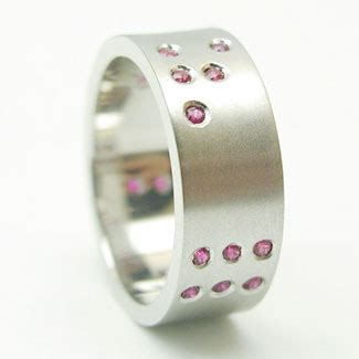 Binary Wedding Band Because Geeks Get Married by Rings He Said Yes