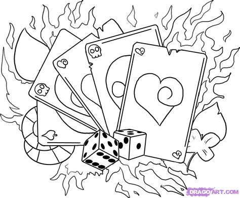 tattoo designs cards and dice images designs