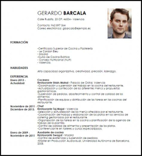 Plantilla De Curriculum Para Cocinero Modelo Curriculum Vitae Chef De Cocina Hind 250 Livecareer