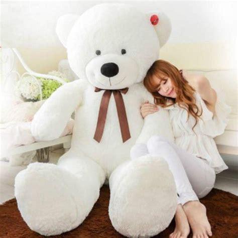 big stuffed 47 quot big stuffed animal white teddy plush soft 120cm ebay