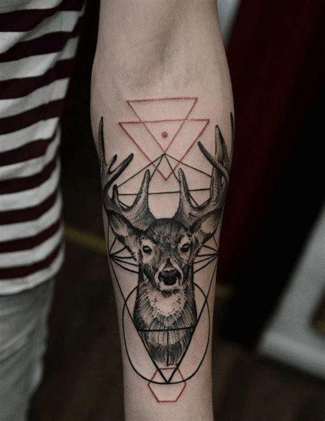 geometric elk tattoo the 25 best ideas about stag tattoo design on pinterest