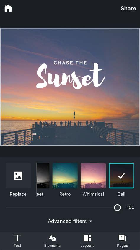 canva app canva voor iphone maakt mooie prints voor social media