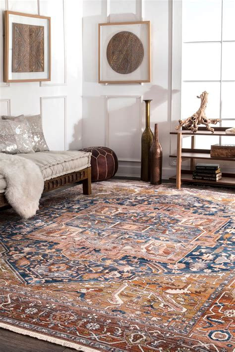edessa tribal medallion fringe rug 38 best worry proof your home images on