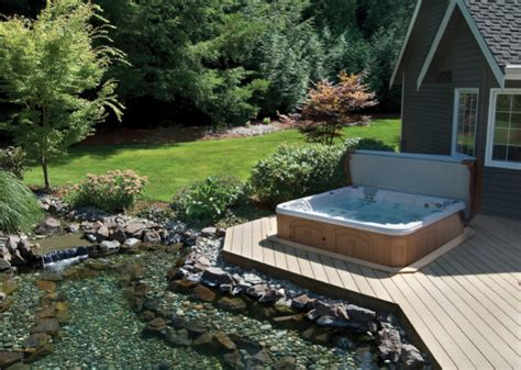 backyard designs with spa pool design ideas