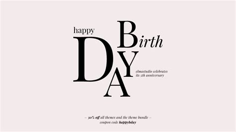 happy birthday minimal design happy birthday elmastudio we are celebrating our 5th blog