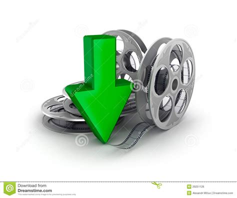 download film cartoon gratis film reel and arrow download icon stock illustration