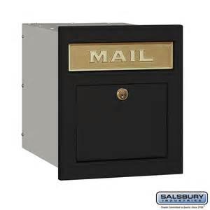 salsbury industries 4145p blk column mailbox locking