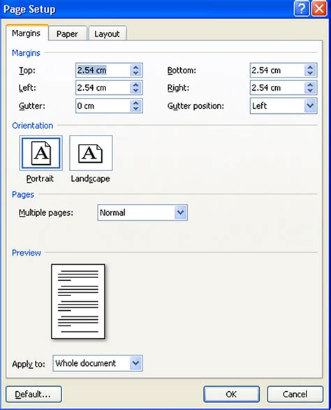 ukuran kertas spasi huruf ukuran huruf dan margin mengatur ukuran kertas page setup pada ms office word