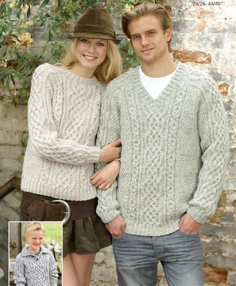 free knitting patterns for aran wool top 5 free aran jumper knitting patterns for