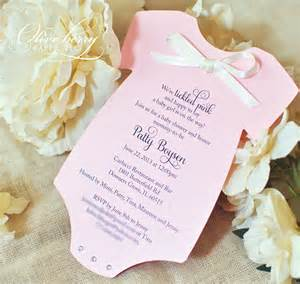 baby shower onesie invitation template