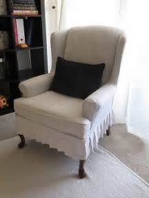 Slipcovers For Wingback Chairs My Wing Chair Slipcover Reveal