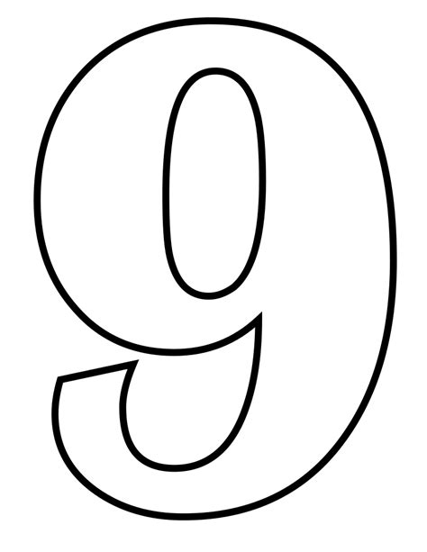 Number Drawing 0 To 9 by File Classic Alphabet Numbers 9 At Coloring Pages For