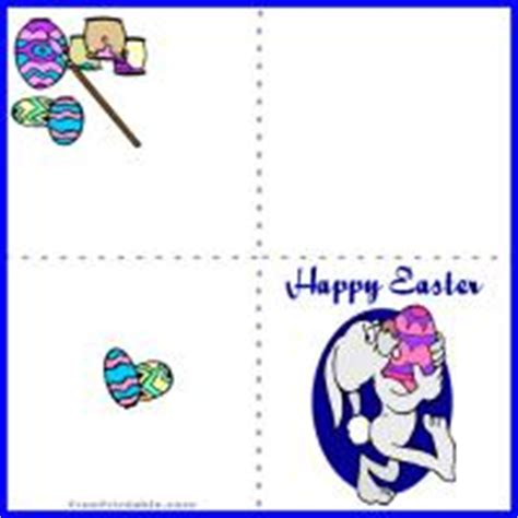 free printable quarter fold easter cards easter egg painting mini card
