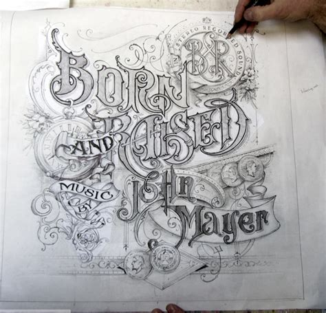 tattoo lettering raised born and raised album cover thee blog