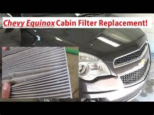 chevrolet equinox cabin air filter replacement 2010 2015