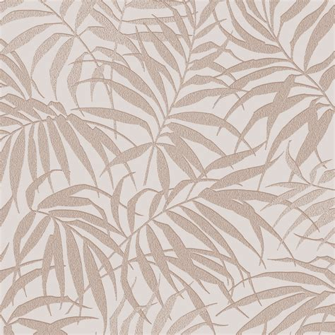 shimmer wallpaper metallic gold brown ilw980007 from graham brown pure beige rose gold tropical leaf