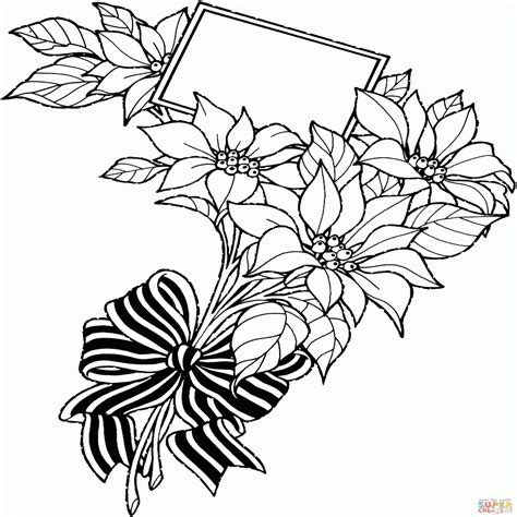 fiori di loto stilizzati disegno di mazzo di fiori natalizia con cartolina da