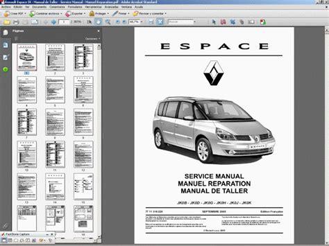Renault Espace Iv Manual De Taller Service Manual