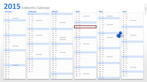 calendar template for powerpoint powerpoint calendar the start for 2015
