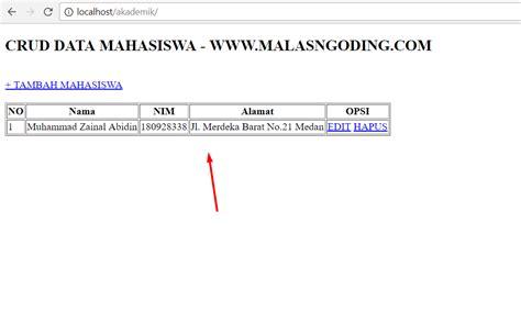membuat database dengan mysql query browser membuat crud dengan php dan mysqli menilkan data
