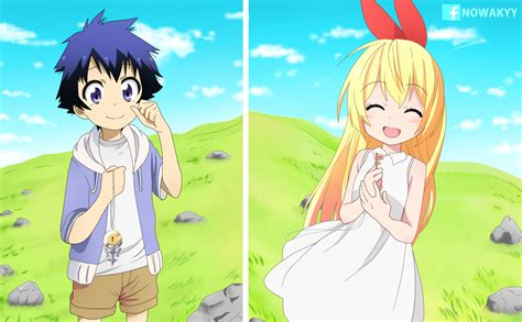 nisekoi anime anime nisekoi chitoge kirisaki raku ichijō fondo de