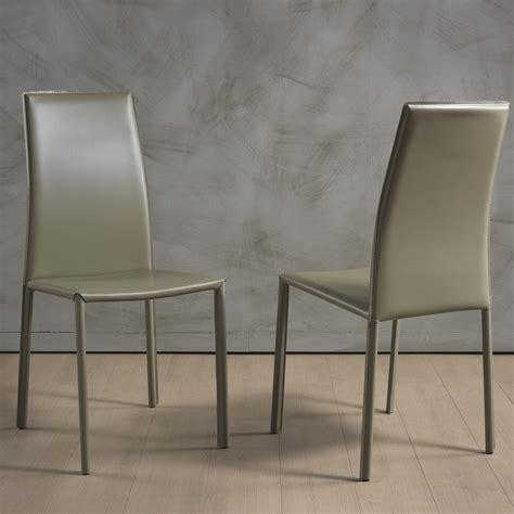 sedie per soggiorni sedia per soggiorno dafne in cuoio rigenerato arredaclick