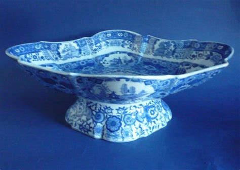 net pattern bowl large spode pearlware net pattern footed dish or comport c1820