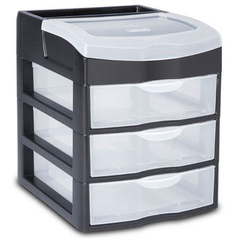 sterilite 3 drawer desktop unit in storage drawers