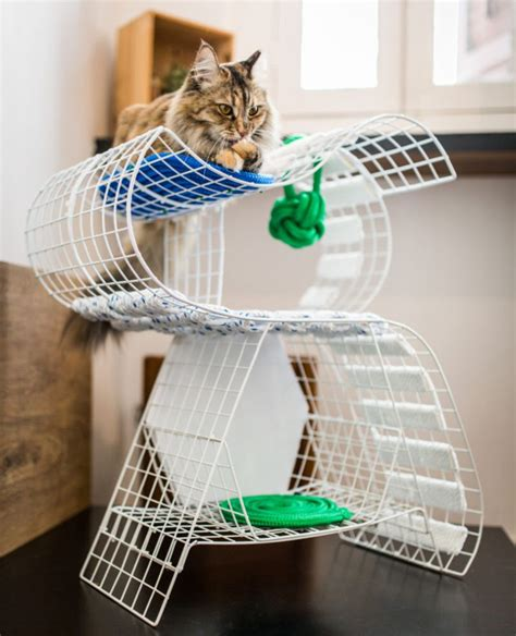 modern cat tree modern cat tree by danchanand on etsy pet 9lives is first ever cat furniture design show at design