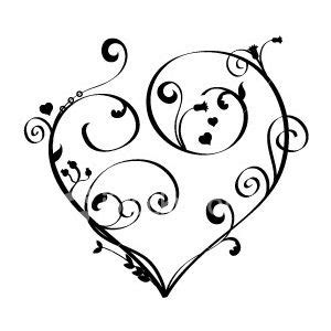 heart and scroll tattoo designs tattwo tattoos