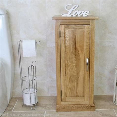 Oak Bathroom Shelves Oak Bathroom Furniture Small Vanity Cabinet Cupboard With Shelving Storage Ebay
