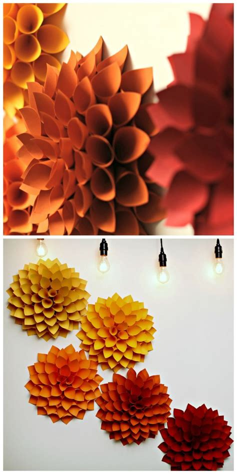 paper wall decor ideas  pinterest diy wall
