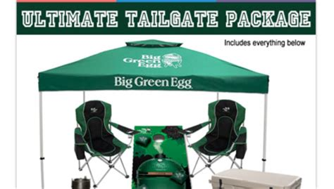 big green egg ultimate tailgate sweepstakes sun sweeps
