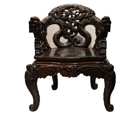 dragon armchair chinese carved dragon armchair