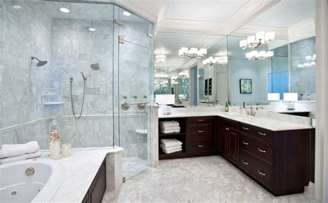 large bathrooms corner shower configurations that make use of dead spaces