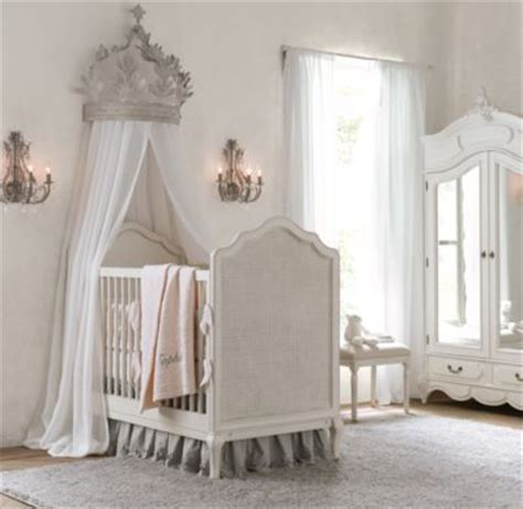 Crown Canopy For Baby Crib Heirloom White Demilune Metal Canopy Bed Crown Children S Bedroom Antiques