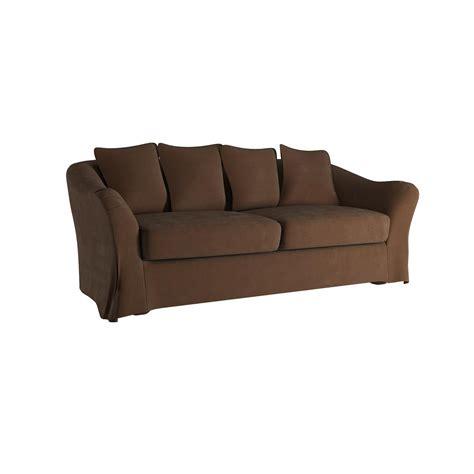 down filled slipcovered sofa homesullivan sydney 1 piece brown down filled slipcovered
