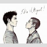 Derek Hale And Stiles Stilinski Fan Art   446 x 379 jpeg 24kB