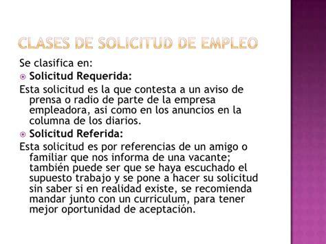 Carta De Solicitud De Empleo Para Que Sirve Solicitud
