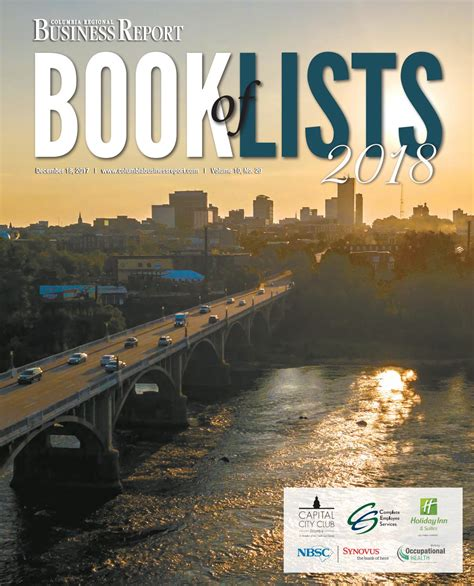 Columbia Mba 2017 2018 Alan Cypress by 2018 Columbia Book Of Lists By Sc Biz News Issuu