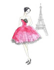 in watercolor fashion illustration print