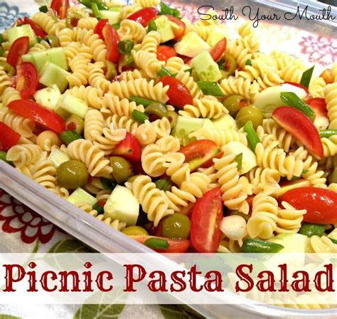 great pasta salad recipes picnic pasta salad this is a great pasta salad for a crowd feeds approximately 15 to 20