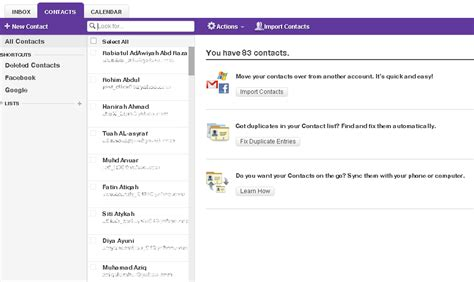 fb yahoo import contact fb via yahoo mail