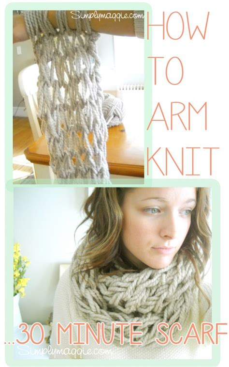 how to arm knit an infinity scarf arm knitting how to copy